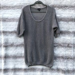 Torrid Size 0 Metallic Gray Cable Knit Sweater